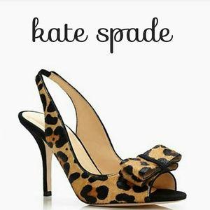 Kate Spade Calf Hair Slingback Heels Sandals sz 9